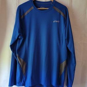 ASICS blue long sleeve running shirt